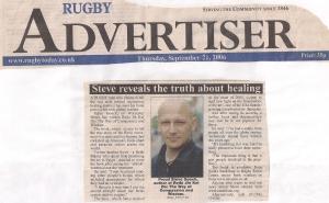10. Rugby Advertiser September 21st 2006