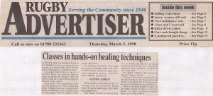 5. Rugby Advertisier March 5th 1998
