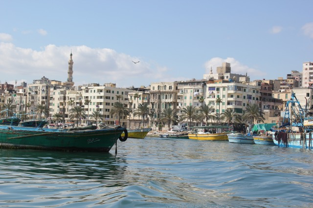 A view of Alexandria, Egypt from the harbour